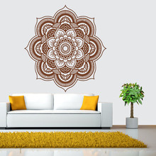 57*57cm Mandala Flower Indian Wall Stickers Bedroom Living Room Wall Decals Mural PVC Wall Sticker Art Home Decor Vintage Poster