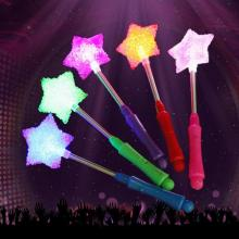 Fashion Party  LED  Five Star Heart Spring Particles Sticks LED Magic Star Wand Flashing Lights up Glow Sticks #45