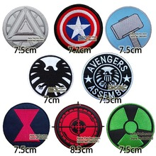 The Avenger Logos Embroidered Iron On Patches, Capain America Hulk Shield Ironman Thor Kids DIY Clothing Kids Accessories(China)