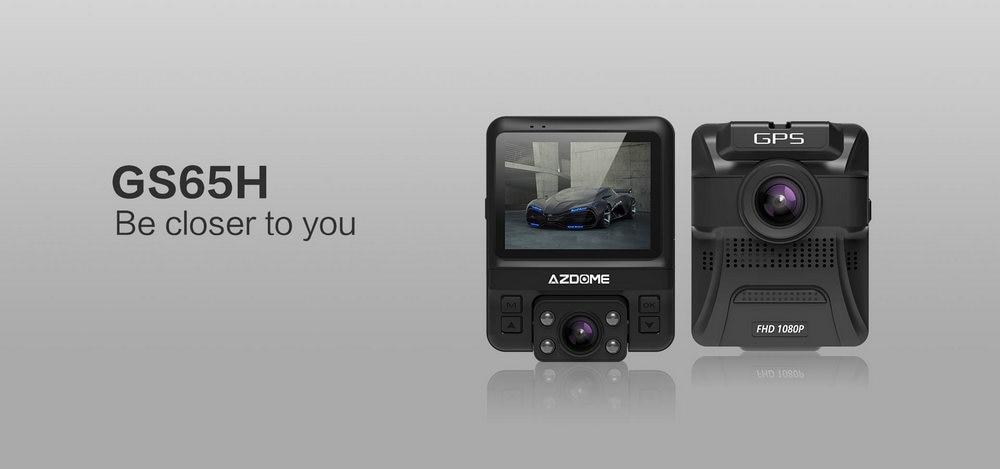 Azdome GS65H Mini Dual Lens Car DVR Camera 1080P Full HD Dash Cam Novatek 96655 Video Recorder G-sensor Night Vision 1