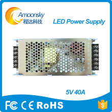 professional rong electric Power supply 5v 40a for led screen cloth(China)