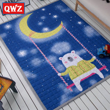QWZ Kids Baby Play Mats 200*150CM 100% Cotton Square Toys Carpets Rugs Baby Game Mat Crawling Pads Cartoon Bedroom Picnic Rugs