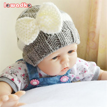 Bow Knitted Baby Caps Boys Girls Toddler Crochet Beanie Baby Hat Cute Children Caps Accessories