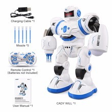 2018 New Robot Toys Intelligent Programming Fighting Mode Dancing Sensor Control Kids Toys drop shipping(China)