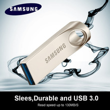 100% original SAMSUNG USB Flash Drives 128GB 64GB USB 3.0 speed 130MB/s mini pendrive pen drive 32GB U Disk(China)