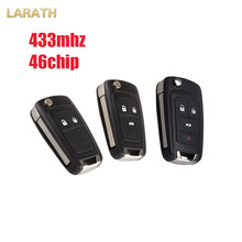 LARATH 2/3/4 Buttons Flip Remote Key 433MHz ID46 Chip For Chevrolet Cruze Aveo Orlando Keyless Entry Fob CAMARO EQUINOX SONIC