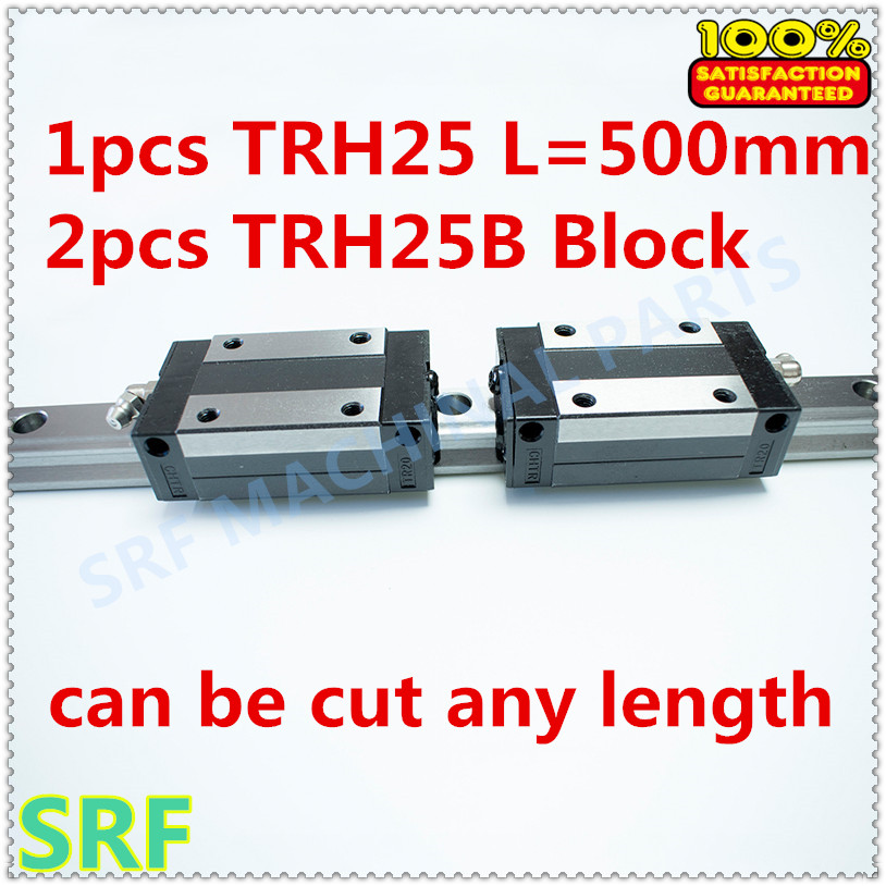 High quality 25mm Precision Linear Guide Rail 1pcs TRH25 L=500mm +2pcs TRH25B Square linear block for X Y Z Axis<br>