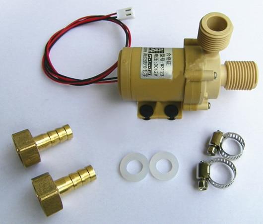 12V Solar Hot Water Pump Circulation High Quality Food Grade   F w/ Coupler<br><br>Aliexpress