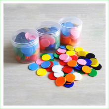 100 Pieces Opaque Plastic 25mm Board Game Counters Tiddly Winks Numeracy Teaching Supplies Good Quality(China)
