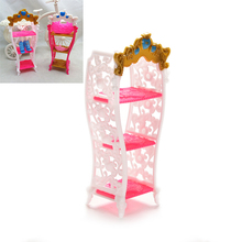 1 Pcs Doll Toy Shoe Cabinet Mini Living Room Home Furniture Color Random Doll Accessories For Barbie(China)