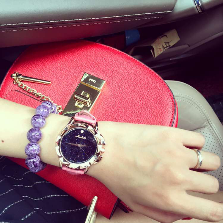 Female Watch Quartz-watch High-Grade Leather Strap Ladies Watch Star face Carved Case Fashion Watches Women<br><br>Aliexpress
