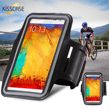 KISSCASE Waterproof Sport Outdoor Running Arm Band Case For Samsung Galaxy Note 4 3 2 1 Mobile Phone Holder Pouch Belt GYM Cover