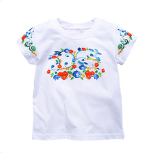 Girl T shirt Children Clothing 100% Cotton Tshirt Girls Summer Tops Flower Print Kids T-shirts Enfant Garcon Baby Girls Clothes