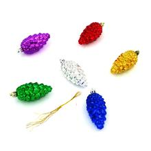 Pine Cones Shooting Star The Stars 6Pcs/Set CHRISTMAS Decoration Hand Made Polymer Clay Christmas Tree Ornaments