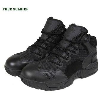 FREE SOLDIER Высокосортные тактические дорожные сапоги для ходьбы , военные сапоги с низким верхом, путынная  альпинистская обувь  противоскользящая обувь для бивака  Локальная доставка