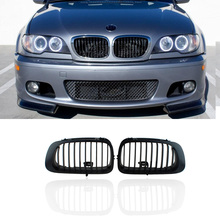 For BMW E46 2D Pre-Facelift Black Kidney Grilles Grill M3 Coupe-Convertible M 98-02