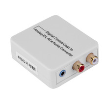 Digital Optical Toslink Coax to Analog R/L/RCA 3.5mm Audio Converter Adapter Wholesale
