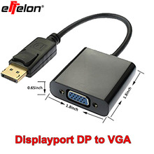 Effelon 2015 Displayport DP to VGA Adapter Male to Female M/F Cable Adapter Displayport VGA(China)