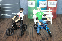 2 piece/Lot Mini BMX Flick Trix finger bike toys for children gift boys Christmas GiftBicycle(China)