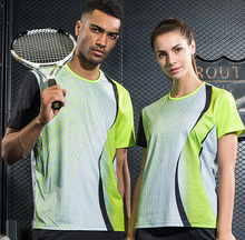 New Running Sportswear Quick Dry breathable badminton shirt,Women/Men table tennis clothes team training O Neck Loose T Shirts