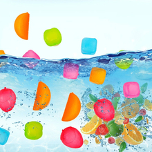 6Pcs/lot Fruit and Square Shaped Ice Cubes LDPE Food Grade Plastic Fruit Shaped Reusable Plastic Multicolour Party Tool
