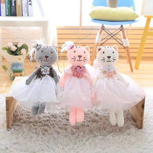 all size 40cm high quality cat plush toys gray/pink/light pink cat doll Pendant stuffed plush animals birthday gift for Gilr