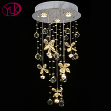 Luxury Modern Chandelier Lighting Butterfly Crystal Lamps For Living Room Restaurant LED String Light Fixture(China)