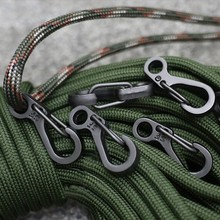 1000pcs/lot Spring Buckle Snap Alloy Nickel-free Plating Mini Key Ring Carabiner Bottle Hook Paracord #ME103(China)