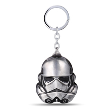 Star Wars Keychain Christmas Gifts 3D Storm Trooper Darth Vader Mask KeyChain Soldiers Metal Keychain Lucasarts for MEN(China)