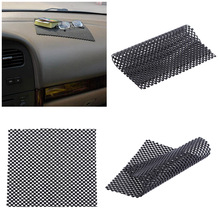 1 Pcs 19*16cm Auto Black PU Non-slip Dash Cushion Mat Car Dashboard  Mat