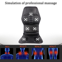 Professional Car Household Office Full Body Massage Seat Health Care Cushion Lumbar Heat Vibration Neck Back Massage Cushion