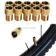 10Pcs Bicycle French Turned American Copper MTB Road Bike Valve Adapters Conversion Mouth Pump Brass Tire Tools Car-styling HOT