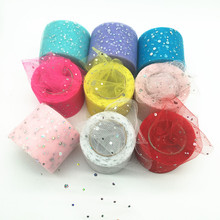 Buy Baby Shower Glitter Sequin Tulle Roll 5cm 22m Spool Tutu Wedding Decoration Organza Laser DIY Crafts Birthday Party Supplies.q for $1.38 in AliExpress store