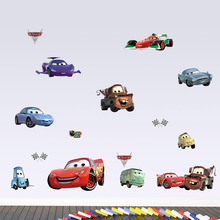 Cartoon Car wall stickers for kids rooms boy's room poster Children Room Mural art  home wall decals nursery kids mural art
