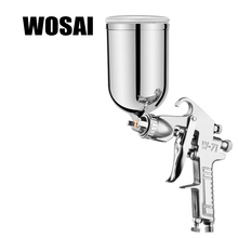 WOSAI 400ML Profession Pneumatic Spray Gun Airbrush Sprayer Alloy Painting Atomizer Tool With Hopper For Painting Cars W71(China)