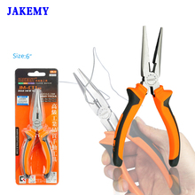 "6"" Multi-function Long Nose Pliers Chrome Vanadium Steel Needle Nose Pliers Ferramentas Electrician Tools(China)"