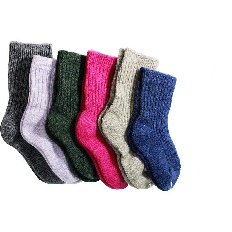 Childrens Winter Thick Warm Wool Socks Soft Kids Socks Random Color