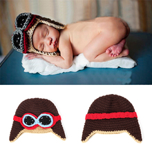 2017 Toddlers Cool Baby Boy Girl Kids Infant Winter Pilot Warm Cap Bomber Hat Winter Keep Warm Caps Photography Props Wholesale(China)