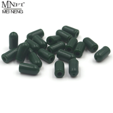 MNFT 50pcs Green Color Rubber Buffer Beads Knot Protector for Carp Fishing Hair Rig Making(China)