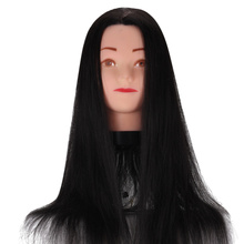 Pro Training  Teaching Braided Hair Disk Hair Fake Mannequin Head + Model Head Bracket For Hairdressing School Hairdressers