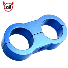 evil energy 1Pcs AN10 Billet Oil Fue Water Hose Turbo Separator Divider Clamp For Oil Fuel Water Hose Blue(China)