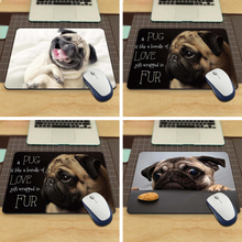 NEW Square Funny Animals Pug Silon Mouse Mats 220mmX180mmx2mm Pad Me Mat Drop