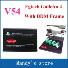 DHL Free Shipping [ Bdm frame+Fgtech Galletto 2 Master V54 ] OBD2 Chip Tuning Quality A++ FG Tech Galletto4 Master With USB Key(China)