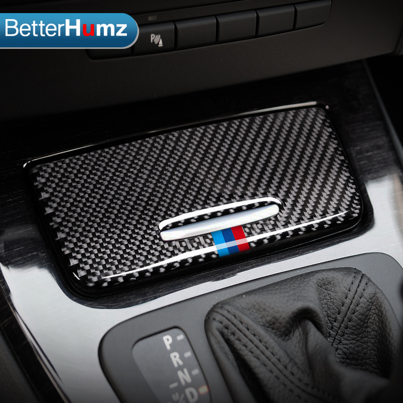 For BMW E90 2005-2012 1pcs Car Steering Wheel Stickers Carbon Fiber Cover Trim