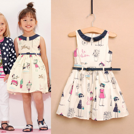 2016 New fashion summer style kids clothe princess dress for girl embroidery clothes kids dress<br>