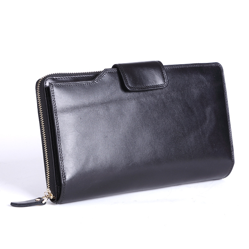 Genuine Leather Men Wallets with Multi Card Holders Mens Long Wallets Purse Man Clutch Bag Male Fashion Wallet<br>
