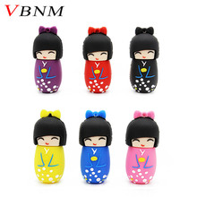 VBNM u disk Japanese dolls Kimono girl usb flash pen drive 4g 8g 16g 32g 64g dolls flash usb memory stick pen drive gifts disk(China)