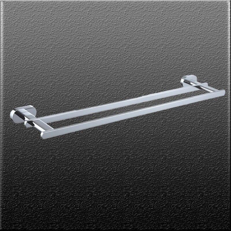 Bathroom accessories double towel bar holder brass chorm finish wall towel hanger shelfbath accessories<br><br>Aliexpress