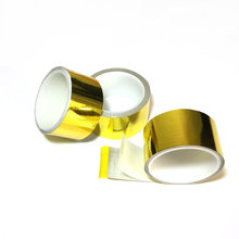 4.5m X 1inch Roll Reflect- A- Gold Tape High Performance Reflective Heat Shield Wrap Gold Heat Tape(China)