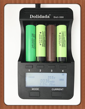 Dolidada Doli-500 LCD 3.7V/1.2V AA/AAA 18650/26650/16340/14500/18650 battery Charger with screen 18650 charger lii-500 5V1A(China)